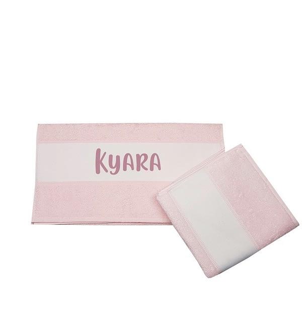 Handdoek met naam rose